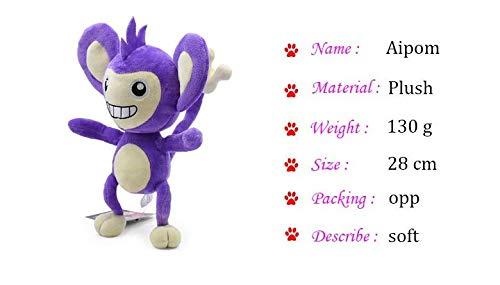 GrandToyZone DOLL SERIES 28cm (11 inch) - Cartoon Aipom Plush Peluche Stuffed Dolls (A) ()