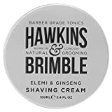 Hawkins and Brimble Shaving Cream 100ml / 3.4 fl oz - Male Shave Soap Lotion Good Lather | Lightly Fragranced Nice Aroma