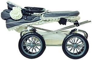José Cuevas 82000 Cochecito de muñecas, 90 x 40 x 90 cm, con Bolsa y sombrilla Plegable, Cromado