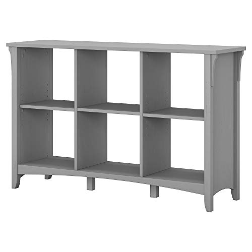 Bush Furniture Salinas 6 Cube Organizer in Cape Cod Gray