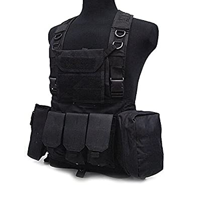 Linkin Sport Tactical Vest Chest Rig Molle Vest Breathable and Lightweight