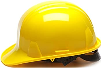 Pyramex Yellow Cap Style 4 Point Snap Lock Suspension Hard Hat 2