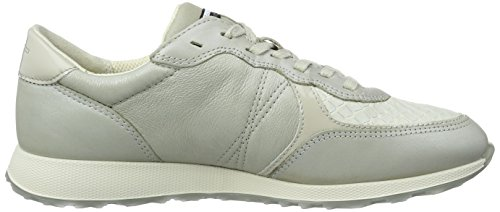Ecco Gravel 50399gravel White Gravel Weiß EU 42 Basses Gris Femme Baskets Sneak Ladies r1qRr