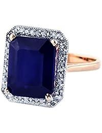 05ccb8b92 6.6 CTW 14K Solid Rose Gold Angels Halo Sapphire Diamond Ring 4897