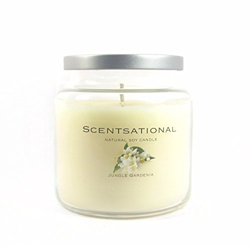 Scentsational JungleGardenia Candle jar Ivory