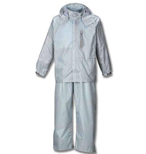 ( エムシーエスピー ) Mc.S.P 透湿 防水 レインスーツ 大きいサイズ シルバー キング ビッグ ラージ B076MWDY99 4L|1 シルバー 1 シルバー 4L