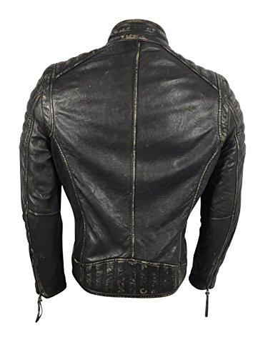 Reborn Fashion Lammleder Herren Jacke John Schwarz Biker-Jacke Echt-Leder  Motorradlederjacke Übergangsjacke Oberbekleidung  Amazon.de  Bekleidung 2ce9fafa38