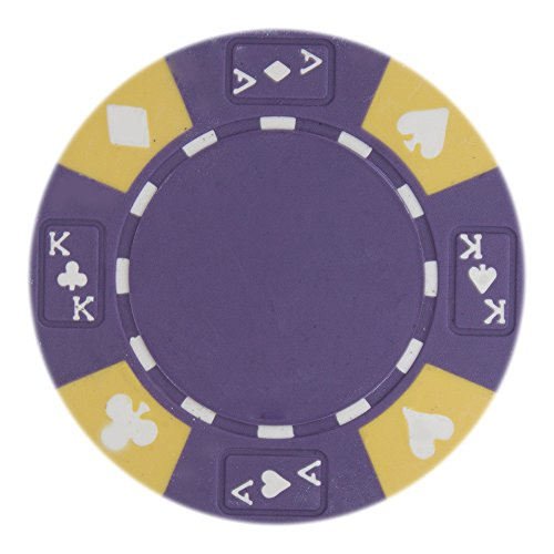 50 Purple Ace King Suited Clay Composite 14 Gram Poker Chips