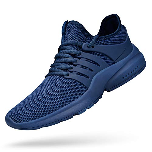 QANSI Mens Walking Shoes Non Slip Lightweight Running Sneakers Slip on Athletic Sports Tennis Gym Shoes Blue 11 (Best Type Of Shoes For Racquetball)