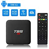 YAGALA T95 S1 Android 7.1 TV Box 1GB RAM 8GB ROM Amlogic S905W Quad core cortex-A53 Processor 2.4Ghz WiFi H.265 HDMI 2.0 Smart TV Box 100M Ethernet
