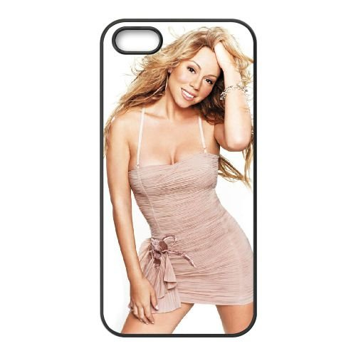 Mariah Carey 006 coque iPhone 5 5S cellulaire cas coque de téléphone cas téléphone cellulaire noir couvercle EOKXLLNCD25775