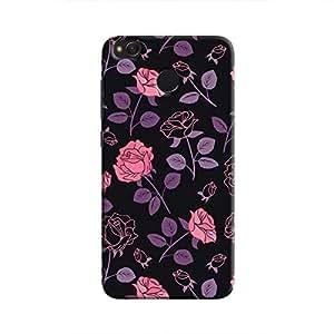 Cover It Up - Roses Print Black Redmi 4 Hard Case