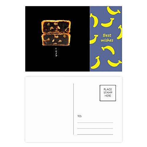 Autumn Walnut (Walnut Moon Cake Mid-Autumn Festival Banana Postcard Set Thanks Card Mailing Side 20pcs)