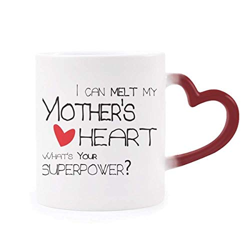 I Can Melt My Mother's Heart Best Mom Love Morphing Mug Heat Sensitive Red Heart Cup