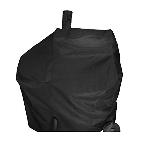 iCOVER-Grill-Smoker-Cover Sized for Char Griller Grill Smoker 2823, 2123 600D Heavy Duty Canvas Water Proof All Weather Off-Set Charcoal Smoker Cover ()
