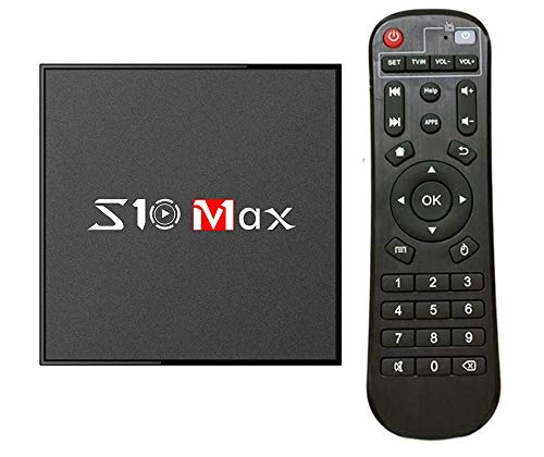 MaxDigi S10 Max Android 9.0 TV BOX S905X2 4GB RAM 32GB ROM, 2019 Newest Google Android Box 9.0, 2.4G/5.8G WiFi/H.265/ 4K/ Ethernet 100M / BT 4.2 Smart Set-top Boxes