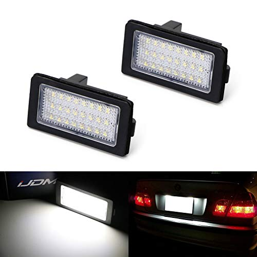 01 Bmw E38 Led - iJDMTOY OEM-Fit 3W Full LED License Plate Light Kit For 1995-01 BMW E38 7 Series, Powered by 18-SMD Xenon White LED & Can-bus Error Free