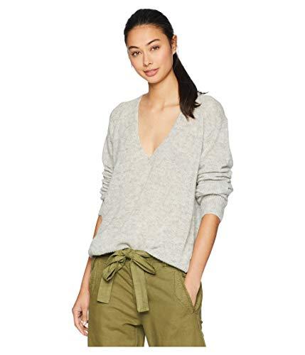 Free People Women's Gossamer V Neck Sweater, Grey, Medium