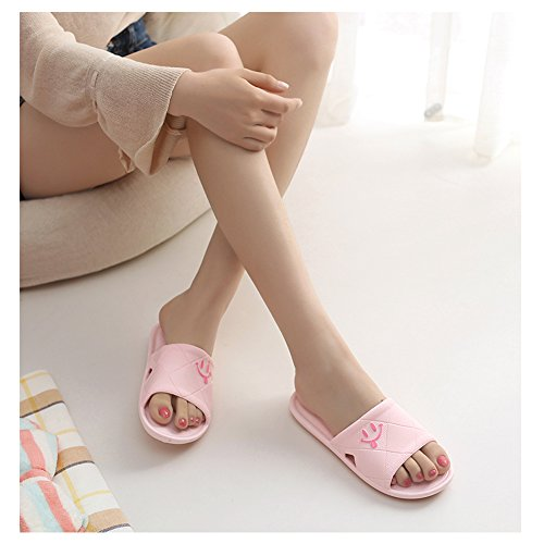 Baño con William Zapatillas Zapatillas de Sandalias amp;Kate Interior Claro Zapatillas EN de Antideslizantes Mujer de de Verano Rosa de Colores Ocasionales Suelo OOaPwrx5q