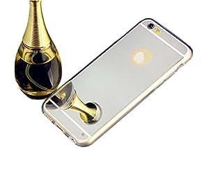 Inspirationc® iPhone 6 Luxury Metal Plating Aluminum Bumper Super Slim Mirror Metal Case for iPhone 6 4.7 Inch Metal Aluminum Mirror Case Cover--Silver