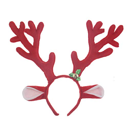 JUNBOON Reindeer Antlers Headband Christmas and Easter Party Headbands -