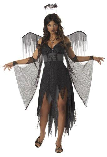 California Costumes Women's Wicked Angel Costume, Black/Grey,Medium]()