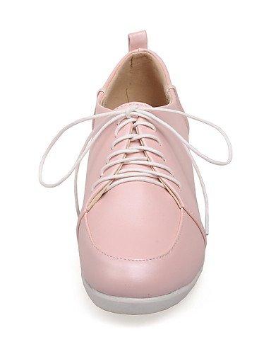 Pink us6 Chaussures Cn36 Rose Décontracté Blanc Bout Talon Bleu Njx Plat Richelieu Eu36 Similicuir Femme Arrondi Uk4 OSqwU77