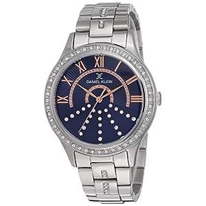 Daniel Klein Analog Blue Dial Women's Watch-DK12095-7