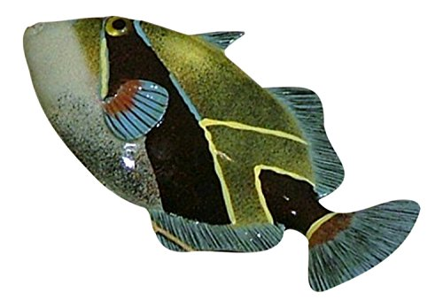 12-inch-tropical-humu-fish-sea-life-resin-wall-decor-blue-and-green