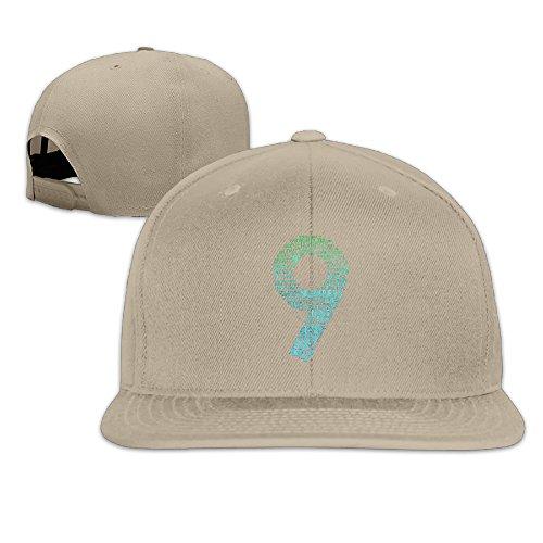 Bdna Dream Number 9 Unisex Cotton Flat Baseball Cap Natural One - The Login Hut