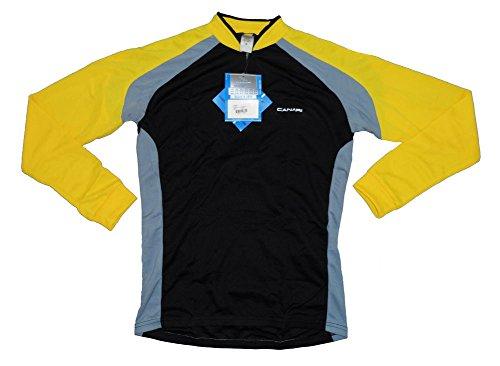 Canari Power Men's Long Sleeve Yellow Cycling Jersey