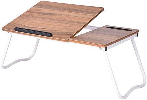 折りたたみテーブル 折り畳み式ベッドトレイポータブルラップデスク折りたたみ小さな寮表、ベッドの上に映画を見に最適または個人ダイニングテーブル ベッド ソファー オフィス アウトドア用 (Color : Natural, Size : 64x36cm)