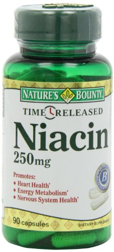 Nature's Bounty Time Released Niacin 250 Mg., 90 Capsules, Health Care Stuffs