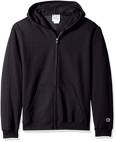 Champion Big Boys' Double Dry Fleece Full Zip Hooded Sweatsh
