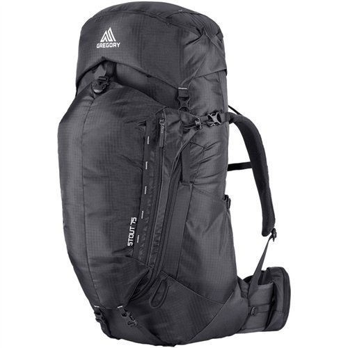 Gregory Mountain Products Men's Stout 75 Backpack, Shadow Black, Small