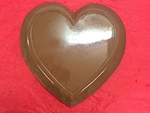3lb Solid Milk Chocolate heart. Large Valentine heart. Certified Kosher