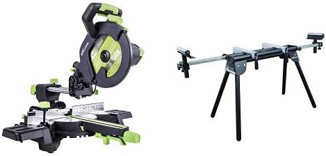 Evolution Power Tools Sliding Mitre Saw and Mitre Saw Stand