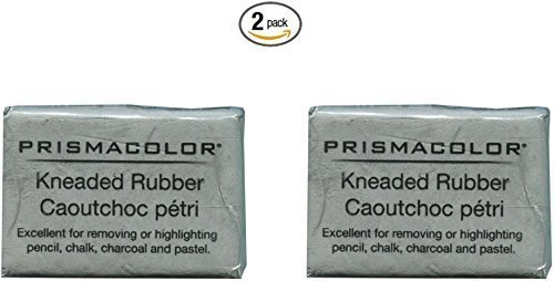 2 X PRISMACOLOR DESIGN Eraser, 1224 Kneaded Rubber Eraser Large, Grey (70531) (Eraser Putty)