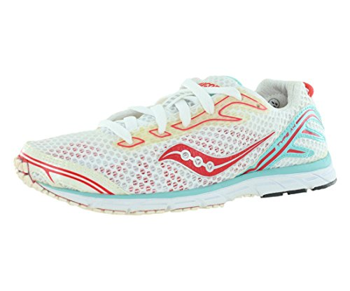 Saucony Women's Grid Type A4 Running Shoe,White/Light Blue/Poppy Red,11 M US (Womens Saucony Type)