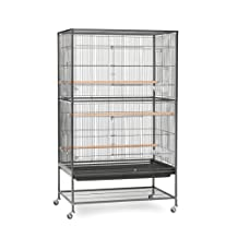 Prevue Pet Products Wrought Iron Flight Cage with Stand Bird Cage, 31-Inch by 20-1/2-Inch by 53-Inch, Black