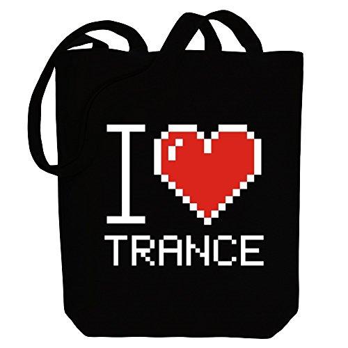 love Canvas Bag Trance I Idakoos pixelated I Tote Music Idakoos qaRwTH