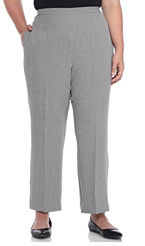 Alfred Dunner Plus Classic Short Pants 22W Short Pewter grey (Blazer Alfred Dunner)