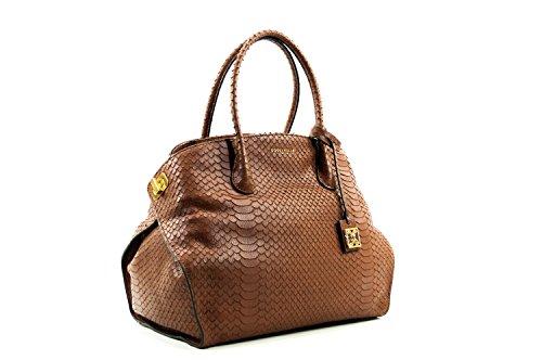Coccinelle Sheela Washed shoulder bag leither python printed bark