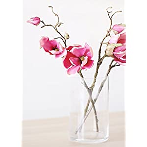 "Afloral Silk Magnolia Branch in Rose Pink - 19"" Tall 31"
