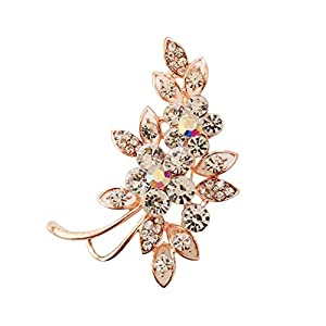 Bledyi Ladies Camellia Brooch Pin Girl Fashion Flower Brooch Metal Brooch Suitable for Work/Dating