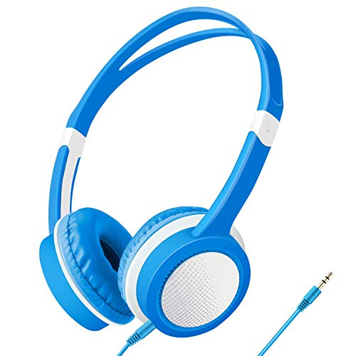 Kids Headphones Wired Over Ear Headset - Volume Limited Safe Material Headsets with Durable Adjustable Headband, Gift Idea for Boys Girls Children Toddlers Teens