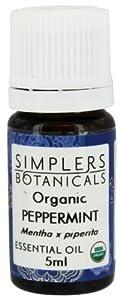 Simplers Botanical Company - Peppermint Essential Oil, 5 Milliliter liquid