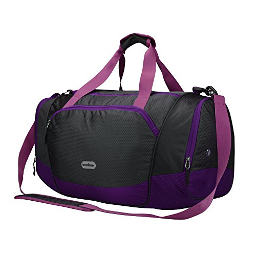 modase Duffel Bag Gym Bag Travel Duffle Luggage Sport Bag with Shoe  Compartment 02e4a6d4cc97d