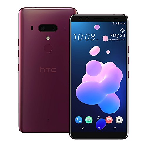 HTC U12 Plus (2Q55100) 6GB/128GB 6.0-inches LTE Dual SIM Factory Unlocked - International Stock No Warranty (Flame Red) from HTC