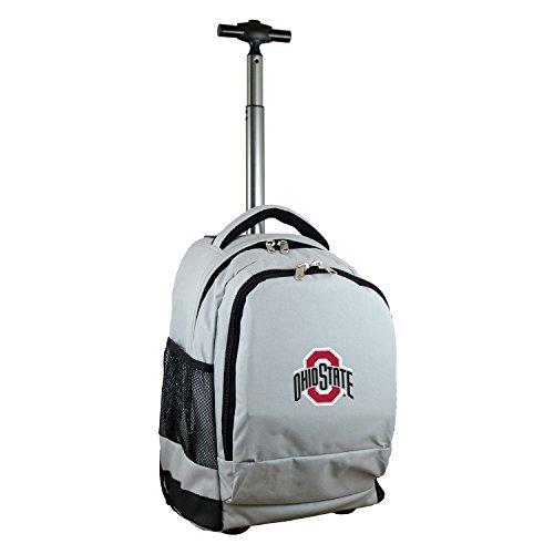 (Denco NCAA Ohio State Buckeyes Expedition Wheeled Backpack, 19-inches, Grey)